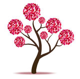 Pink tree - vector Royalty Free Stock Photos