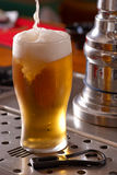 Pint of lager Stock Photo