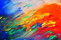 Pintura acrílica abstrata colorida Foto de Stock