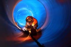 Pipeline construction Stock Photos