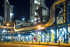 Piping system in industrial plant Royalty Free Stock Photo