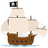 Piraatschip of Varende Boot Stock Foto's