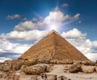 Piramide di Giza Fotografia Stock Libera da Diritti