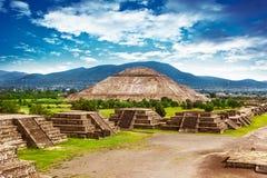 Piramidi del Messico Fotografia Stock Libera da Diritti