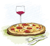 Pizza Meal in Restaurant Royalty Free Stock Images