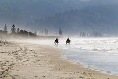 plażowy mglisty Obrazy Royalty Free