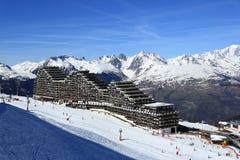 Plagne Aime 2000, Winter landscape in the ski resort of La Plagne, France Stock Photography