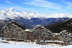 Plagne Aime 2000, Winter landscape in the ski resort of La Plagne, France Royalty Free Stock Image