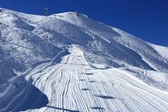 Plagne Centre, Winter landscape in the ski resort of La Plagne, France Stock Photos