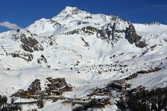 Plagne Villages, Winter landscape in the ski resort of La Plagne, France Royalty Free Stock Photo