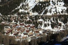 Plagne 1800, Winter landscape in the ski resort of La Plagne, France Royalty Free Stock Image