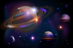 Planets and space. Royalty Free Stock Photos