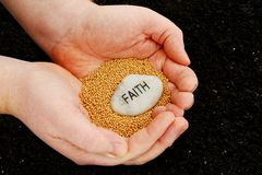 Planting Seeds of Faith Royalty Free Stock Photography