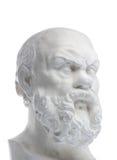 Plaster bust of sokrat Stock Image