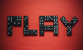 Play Dominoes Royalty Free Stock Image