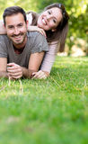 Playful couple smiling Royalty Free Stock Images