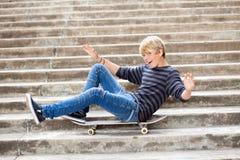 Playful teen boy Stock Images