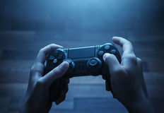 Playing video game Royalty Free Stock Images