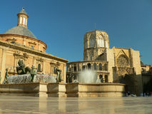 Plaza de la Virgen Stock Photography