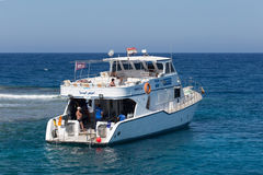 Pleasure yacht in the Red sea Stock Photography