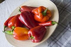 Plenty of bell peppers Stock Photos