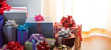 Plenty of colorful presents Royalty Free Stock Images