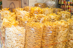 Plenty of Dried fish maw was sale in the biggest China street market Royalty Free Stock Photo