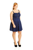 Plus size woman posing in skirt Royalty Free Stock Image