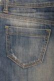 Pocket on denim skirt Stock Photo