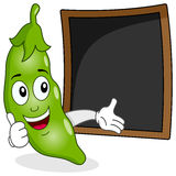 Pod of Peas Recipe or Menu Blackboard Stock Photo