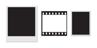 Polaroid stamp and a 35mm film frame Royalty Free Stock Image