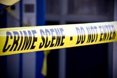 Police crime scene Stock Image