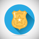 Police officer bage icon protection law order Stock Images