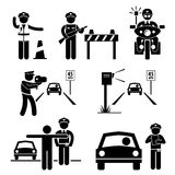 Police Officer Traffic on Duty Pictogram Icon Royalty Free Stock Photo
