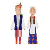 Polish national costume Stock Photography