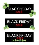 Polyscias liście na Black Friday sprzedaży sztandarze Fotografia Royalty Free