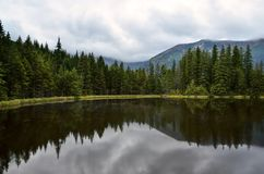 Pond in mountains Royalty Free Stock Images