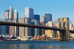 Ponte di Brooklyn New York City Fotografie Stock Libere da Diritti