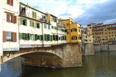 Ponte Vecchio on Arno river Florence Royalty Free Stock Images