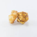 Popcorn with macadamia caramel flavour. Stock Images