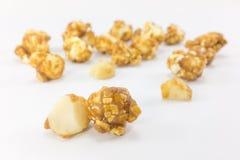 Popcorn with macadamia caramel flavour. Royalty Free Stock Image