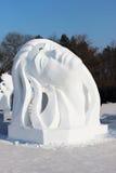 Porcellana di Harbin del fronte della neve della donna Fotografia Stock