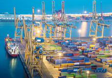 Port with cargo Stock Images