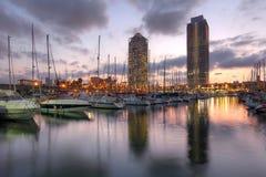 Port Olimpic, Barcelona, Spain Royalty Free Stock Photos
