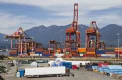 Port shipping containers Royalty Free Stock Images