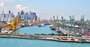 Port of Singapore Royalty Free Stock Image