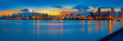 Port of Singapore Royalty Free Stock Photo