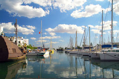 Port in Tunis Royalty Free Stock Photos