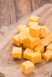 Portion of Cheddar Royalty Free Stock Photos