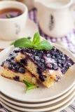 Portion of fresh homemade blueberry cake Stock Photo